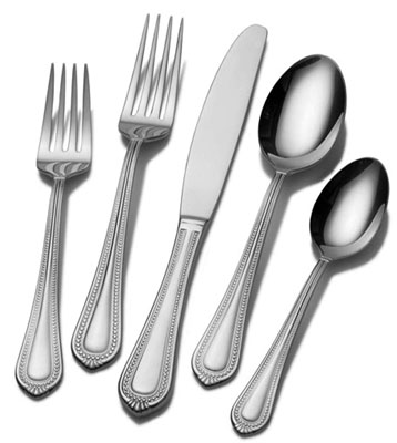 9. Mikasa 65-Piece Stainless Steel Flatware Set (5081086)