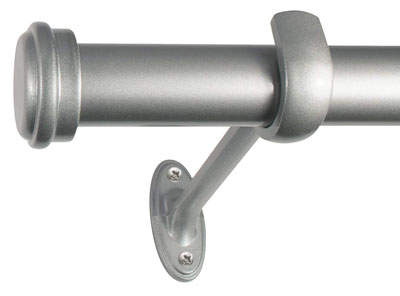 4. Decopolitan End Cap Curtain rod 36 to 72-Inch