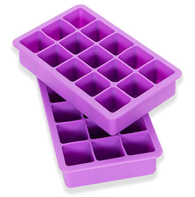 9. Elbee 613 Silicone Ice Cube Trays (Set of 2)