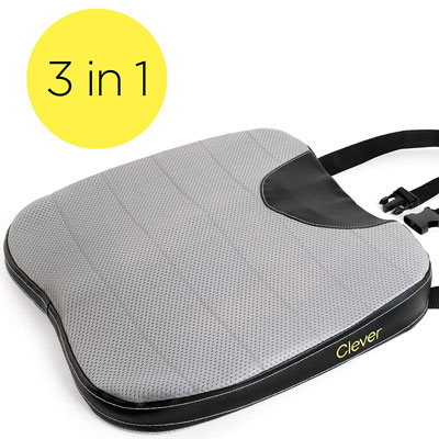 7. Clever Yellow Car Seat Cushion with Strap