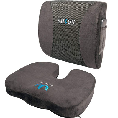 4. SOFTaCARE Seat Cushion Lumbar Support Pillow, Set of 2