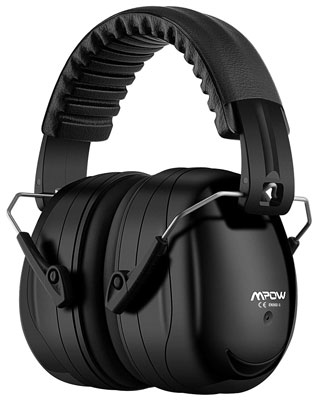 7. Mpow 035 Noise Reduction Safety Ear Muffs, with a Carrying Bag