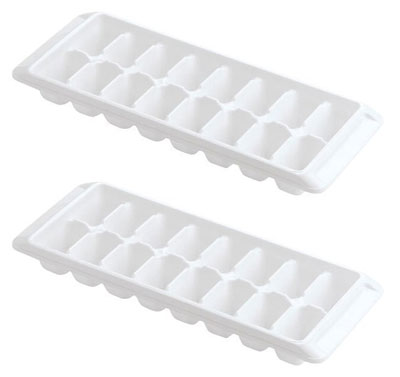 7. Kitch Easy Release White Ice Cube Trays (Pack of 2)