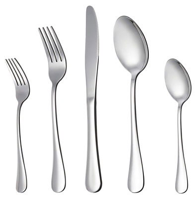 1. LIANYU Stainless Steel Flatware Silverware Set (20-Piece)