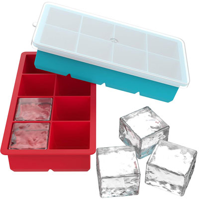 3. Vremi Large Silicone Ice Cube Trays (2 Pack)