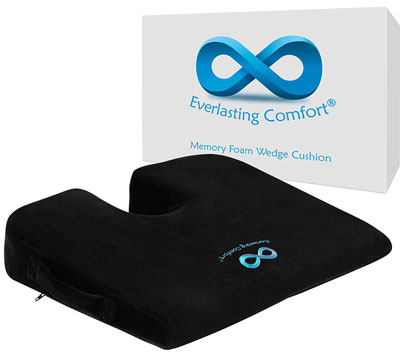 9. Everlasting Comfort 100% Pure Memory Foam Seat Cushion