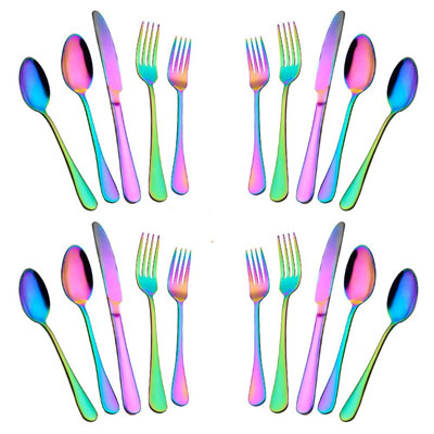 7. Woaiwo-q 20-Piece Stainless Steel Flatware Set