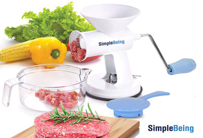 10. Simple Being Manual Meat Grinder Set