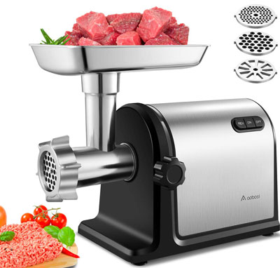 6. Aobosi Electric Meat Grinder (2000W Max)