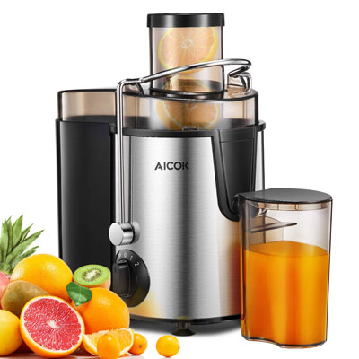 9. AICOK Centrifugal Juicer with Wide Mouth