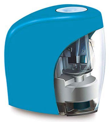 6. Imikas Electric Pencil Sharpener (Blue)