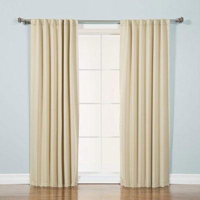2. Best Home Fashion Thermal Insulated Blackout Curtains (Set of 2 Panels)