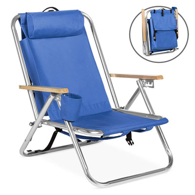 10. Best Choice Products Backpack Beach Chair