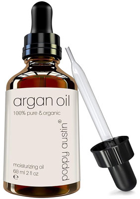 8. Poppy Austin Pure Argan Oil for Hair & Skin, 2 oz