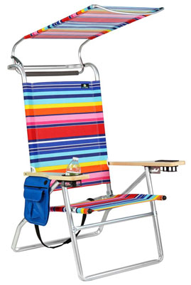 7. BeachMall 4 Position High Seat Beach Chair with Canopy