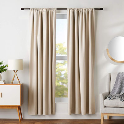 5. AmazonBasics Thermal Insulating Curtain Set (2 Panels)
