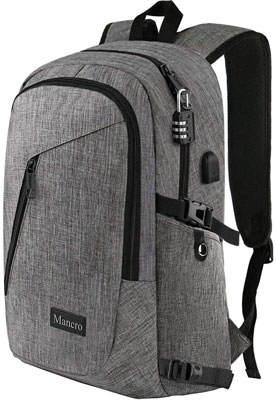 1. Mancro Anti-Theft Travel Computer Bag for Men and Women