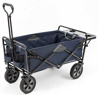 3. Mac Sports Collapsible Utility Wagon with Folding Table and Drink Holders