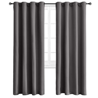 10. WONTEX Thermal Insulated with Grommet Curtains for Bedroom