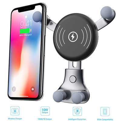 10. BESTHING 2019 Upgraded Wireless Car Charger
