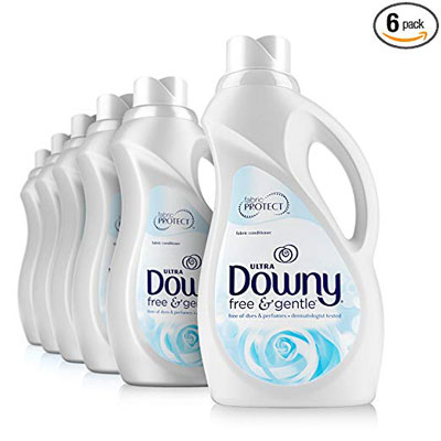 3. Downy Free & Gentle Liquid Fabric Conditioner 34 fl. Oz, (Pack of 6)