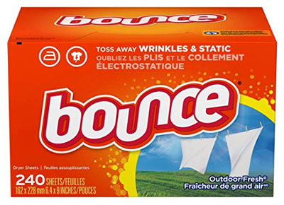 1. Bounce Fabric Softener and Dryer Sheets, 240 Count