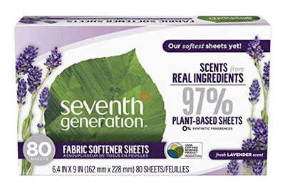 7. Seventh Generation Fabric Softener Sheets, 80 count