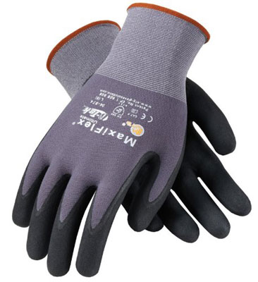 8. ATG 34-874 MaxiFlex Ultimate Nitrile Grip Gloves – 12 Pair Per Pack