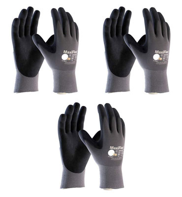 5. Maxiflex 34-874 Ultimate Nitrile Grip Work Gloves
