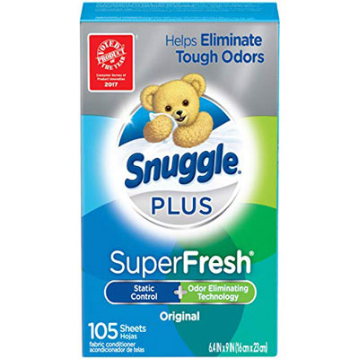 2. Snuggle Fresh Fabric Softener Dryer Sheets, 105 Counts