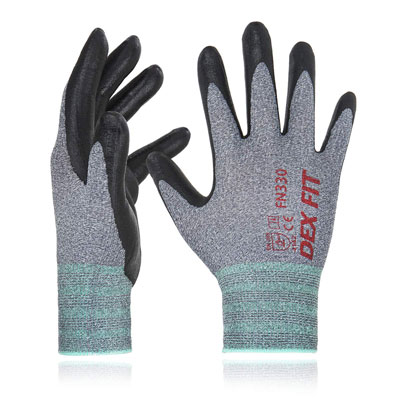 3. DEX FIT Nitrile Work Gloves FN330
