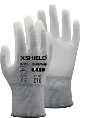 6. XSHIELD 17-PUG Safety Work Glove, 12 Pairs