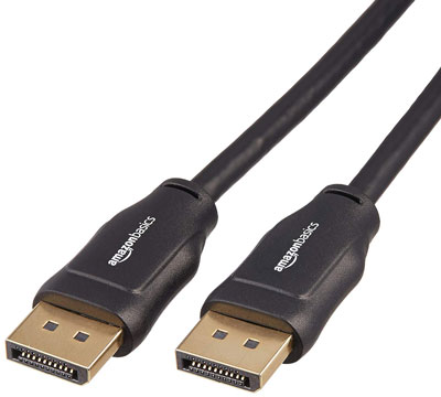5. AmazonBasics DisplayPort to DisplayPort HD Display Cable