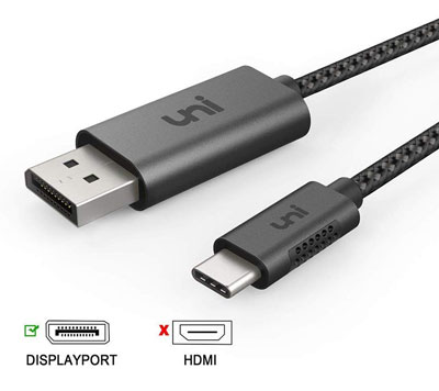 4. uni USB C to DisplayPort Cable
