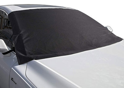 Waterproof Windproof Dustproof Outdoor Car Covers Black Windshield Cover Snow Ice Frost Rain Resistant