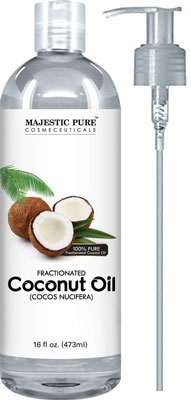 1. Majestic Pure Fractionated Coconut Oil – 16 Ounces