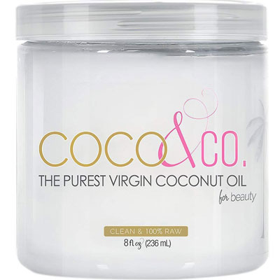 2. COCO & CO. Organic Pure Coconut Oil for Hair & Skin