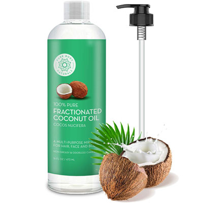 7. Pure Body Naturals Fractionated Coconut Oil for Hair and Skin