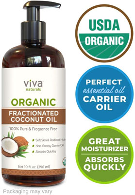 5. Viva Naturals Organic Fractionated Coconut Oil