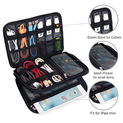 3. BUBM Double Layer Electronic Accessories Organizer