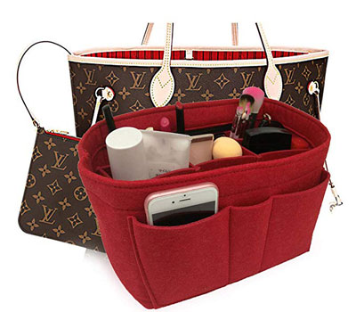 3. LEXSION Felt Fabric Purse Tote Diaper Bag Organizer