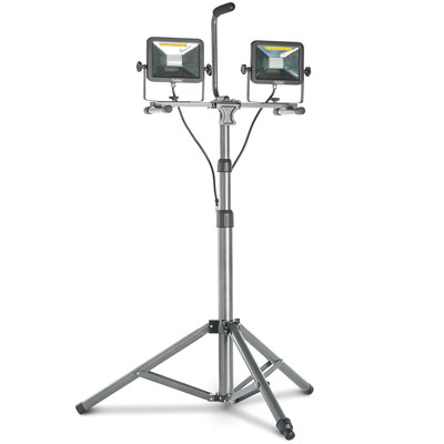 4. VonHaus Dual Head LED Work Light with Tripod Stand