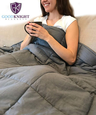 "7. Good Knight 60""x80"" 15 lbs Weighted Blankets"