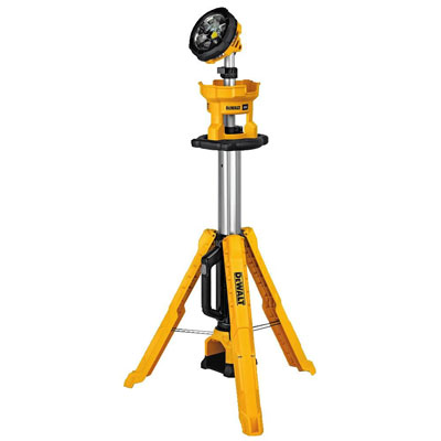 3. DEWALT DCL079B 20V MAX LED Work Light, Tripod Base