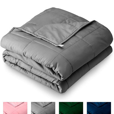 "8. Bare Home 60"" x 80"" 17lb Weighted Blanket for Adults and Kids"