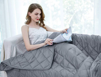 "5. ZZZhen 60""80"" 20LBs Weighted Blanket"