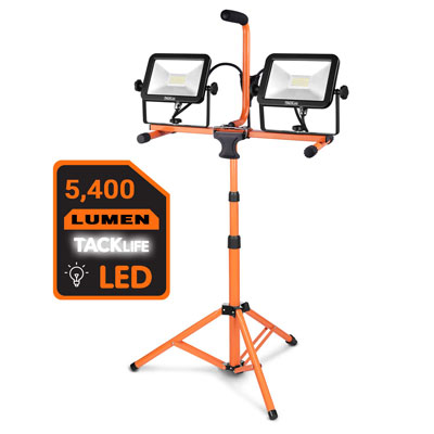 5. TACKLIFE 5400 Lumen Tripod LED Work Light