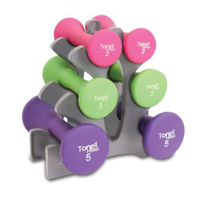 Tone Fitness Hourglass 20-pound Dumbbell Set