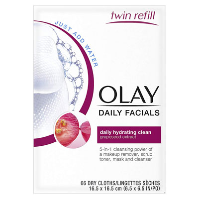 Olay Daily Clean Makeup Removing Facial Cleansing Wipes