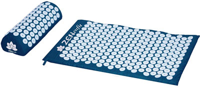 4. Zensufu Neck and Back Pain Relief with Pillow Set Acupressure Mat